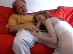 STP4 Ginger Teen Gets Her Old Guy Stiff !