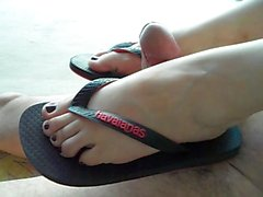 flip flops footjob