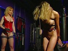 Threesome fetish fun in the slave chamber