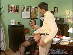 Michelle Wild has anal sex in office