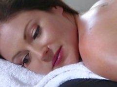 Sensual massage with fuck to finish