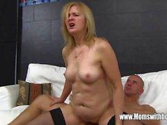 Mature Maid Fucks Boy On Sofa With Porn