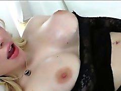 Huge Brüste Transvestit Schönheits Sarina Walen Rips saftige Pussy