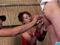 jogo de dominação áspero ao longo tesão Miki japonês