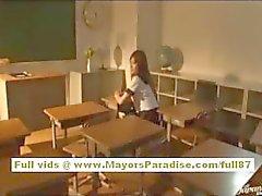 Miyu Hoshino chinês aluna gosta de ser fodida por trás