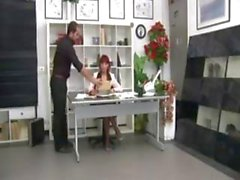 Italian Redhead Mature Office Boss Fucking Employed
