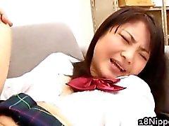 Kanna Harumi Asian schoolgirl shows off part5