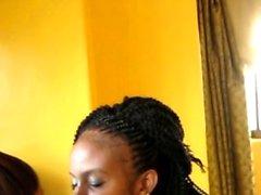 Tutkulu Afrikalı lezbiyenler sevenler