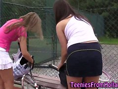 Les teen babes outdoors