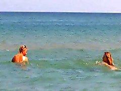 Nude Beach - Beautiful Blond Lesbians