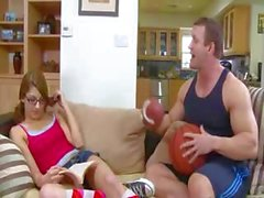 slim young girl has private trainer