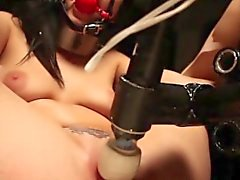 Lezdom mouth gagging submissive