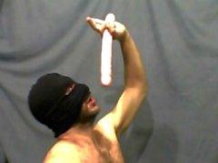 Maskierte fag Dildo throatfuck
