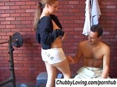 Lovely Laeh is a cute chubby honey who loves sticky facial cumshots
