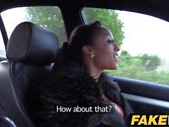 Fake Cop Long legged ebony babe's cop fantasy
