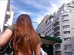 Upskirt Pendeja Argentina culotte gris