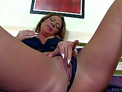 Delicious Pamela Smile masturbating with monster toy