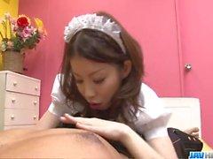 Nao Kojima Japanese maid fucks with her master