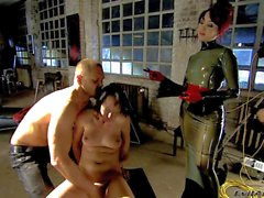 Naked Slave brunette Melissa Lauren gets abused
