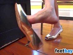 Mature Woman Dangling High Heels
