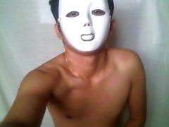 Teen Pinoy Masked Jerk-Off