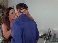 Magdalene St Michaels seducing man at the office