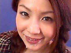 Sensual asiática fodida e de do bukkake