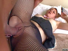 Latina in pantyhose Sasha D gets her Colombian pussy boned