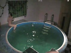 Couple captured fucking in a pool that was wellbeing