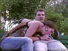 Eiffel Tower PUBLIC sex orgy threesome