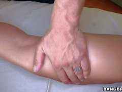 Tattooed Big tit babe Capri Cavalli enjoys massage naked
