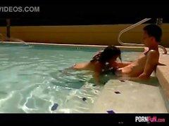 Blowjob at the pool