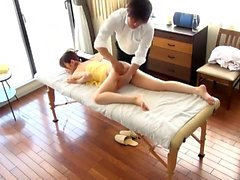 Japanese massage fuck in hairy sexy pussy