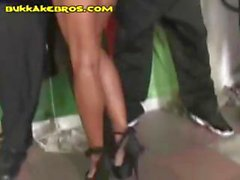 Indecent maid with a wicked growler gets gangbanged by some black gents