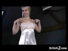 Blonde Amateur Girl From Britain Masturbates
