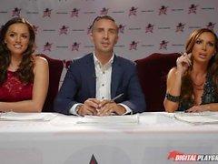 DP estrelas 3 - louro alto Estrela Pornô Jillian Janson Deep Throat Boquete
