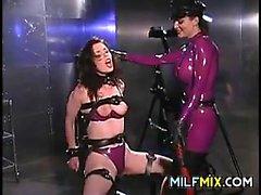 Lesbian MILF In Latex