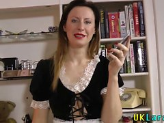 British maid rubs herself