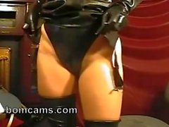 Girl in latex mask on webcam - bomcams