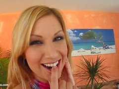 Carol solo masturbating at home from Give Me Pink