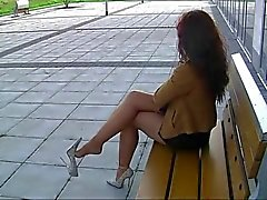 Nylons und High Heels Outdoor - megageile Sau