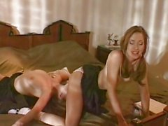 Gwen Summers sits on the face of her friend