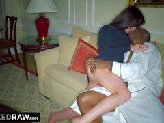 BLACKEDRAW vaimo rakastaa maailman suurinta BBC: tä hotellihuoneessa