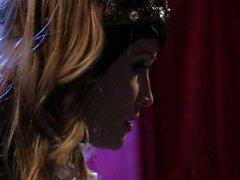 Estrella del porno de Jessica Drake blanca como la nieve de X parodia de