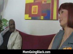 Horny MILF fucks young black stud 6