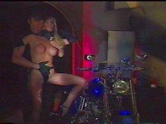 Biker fetish slave and her master