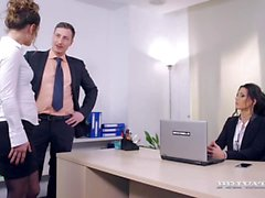 Julia Roca Takes a Huge Facial in the Office