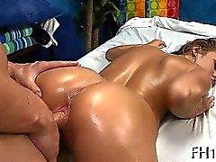 Tasting a luscious hairless vagina