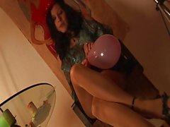sexy solo suntan pantyhose party !