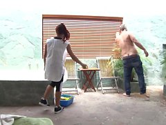 OPERACION LIMPIEZA - Latina maid is in for an oily boning